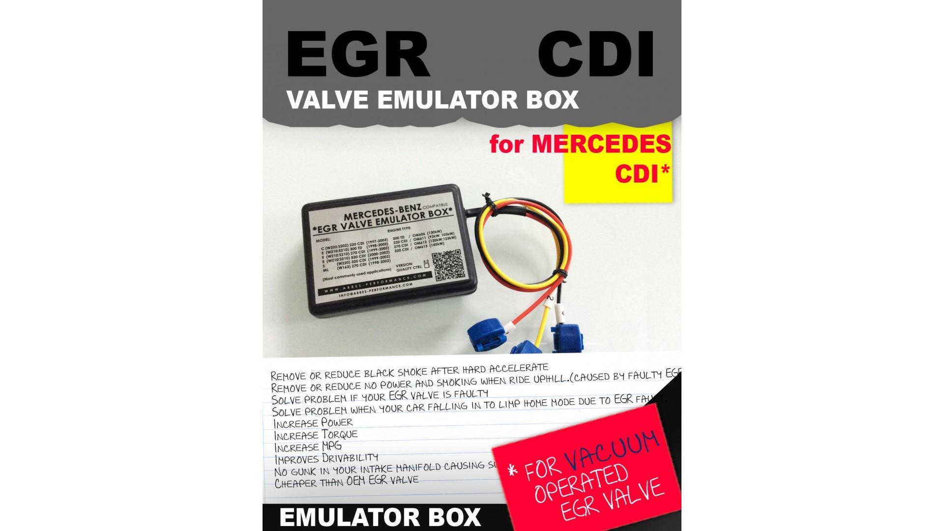 EGR valve emulator BOX Mercedes C / E / S