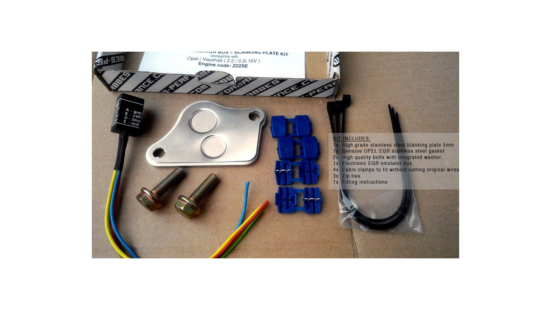 Egr Emulator Simulator Box Blanking Plate Kit Z22se 22 16v Opel Electrical Wiring Vauxhall