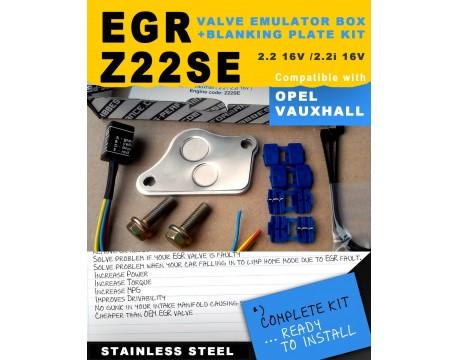 EGR EMULATOR SIMULATOR BOX + BLANKING PLATE KIT Z22SE 2.2 16V OPEL / Vauxhall