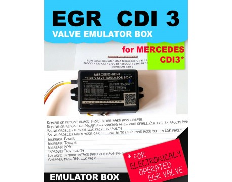 EGR valve emulator BOX Mercedes C / E / S / ML / 220 CDI / 270CDI / 320CDI  CDI3 - Abbes-Performance com