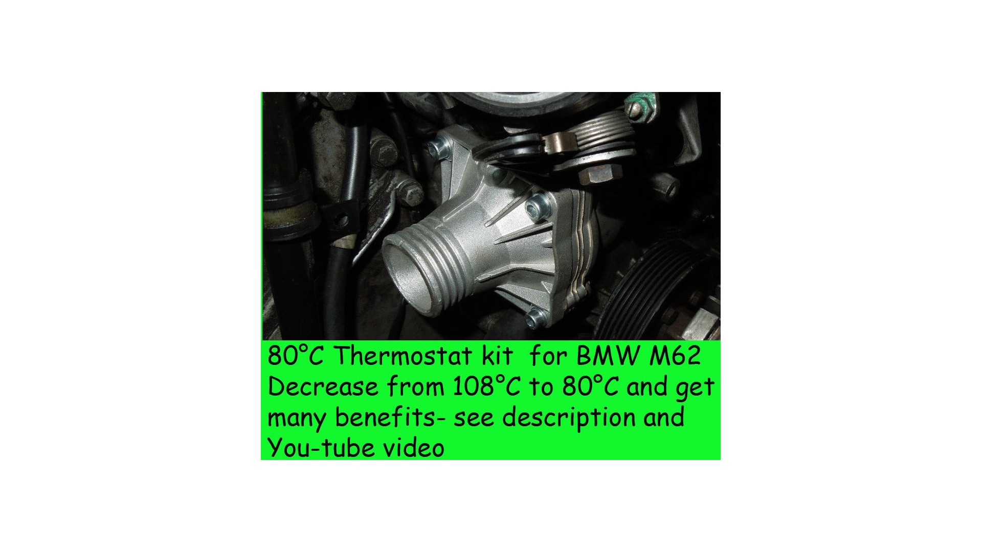 80c Thermostat Kit For Bmw E39 540i E38 740i X5 Z8 E52 M62 Range 1997 528i Wiring Harness Reduce Engine