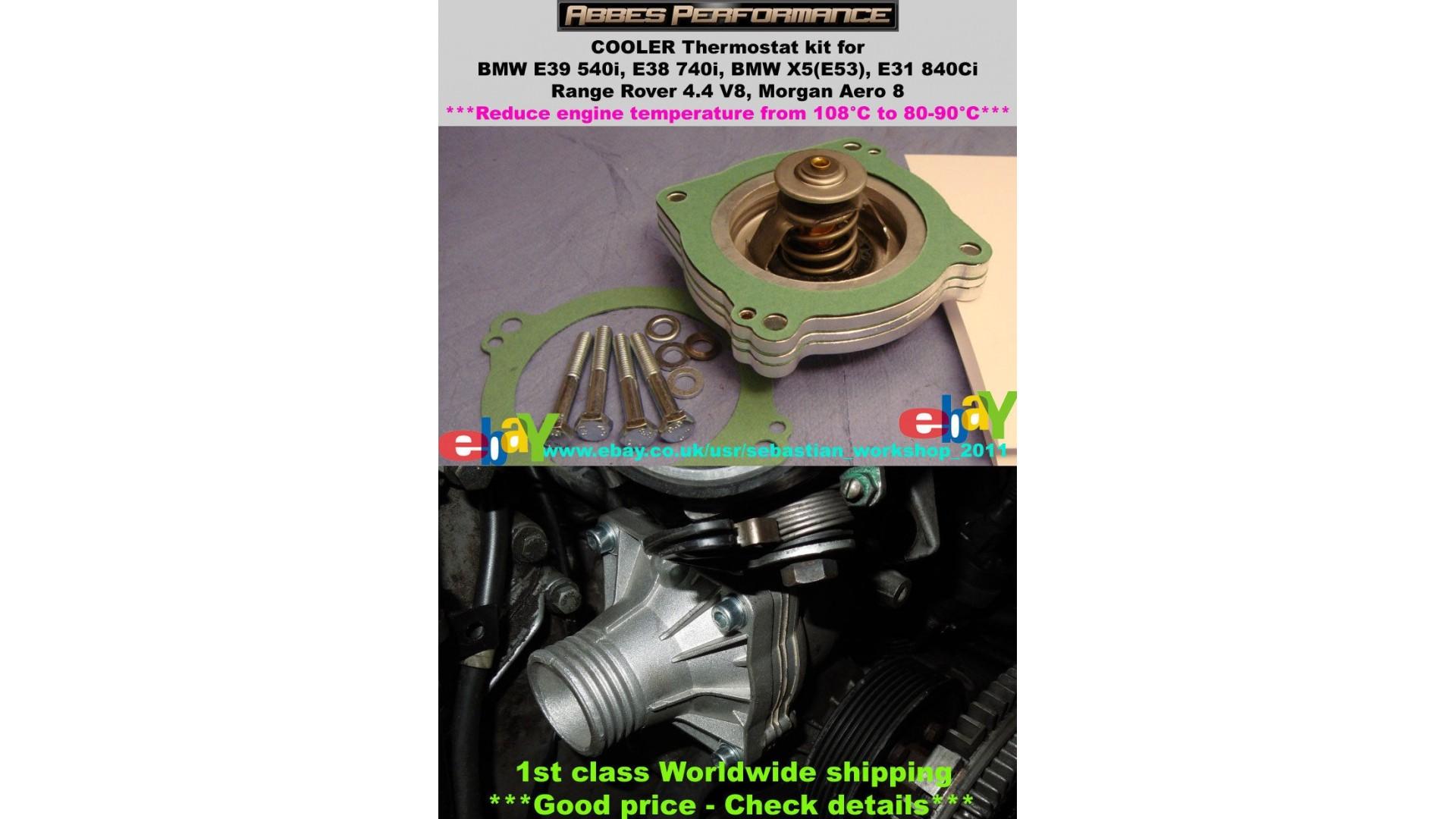80c Thermostat Kit For Bmw E39 540i E38 740i X5 Z8 E52 M62 Range 740il Engine Wiring Harness Reduce